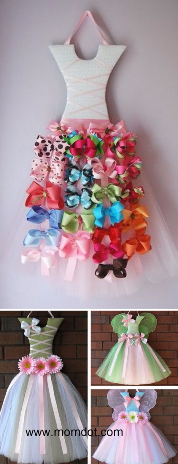 DIY Tutu Bow Holder.