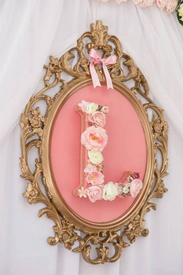 Pink & Gold Princess Bedroom Wall Decor