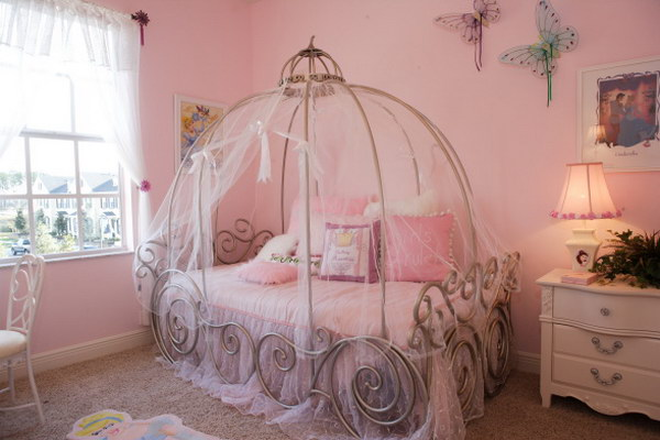 Or Princess Cinderella Carriage Bed