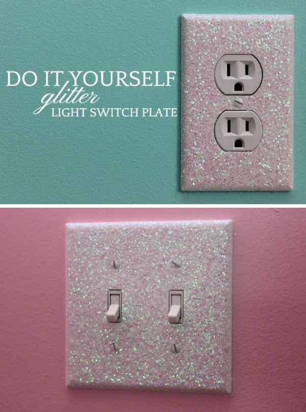 Glitter Light Switch Plates