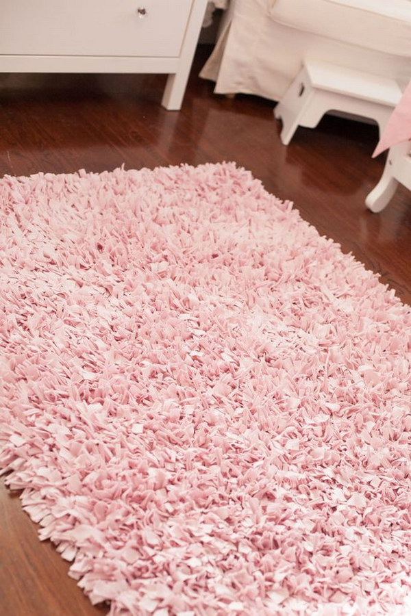 Adorable Shag Rag Rug