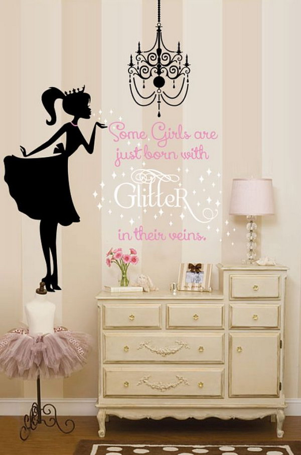 Glitter Ballerina Wall Decal
