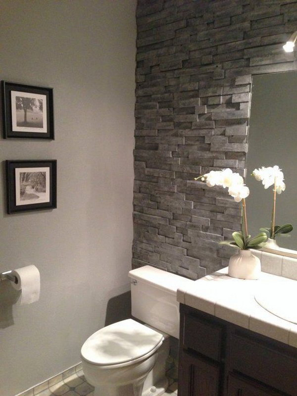 40 rustic farmhouse bathroom ideas hative for Rustic farmhouse bathroom ideas