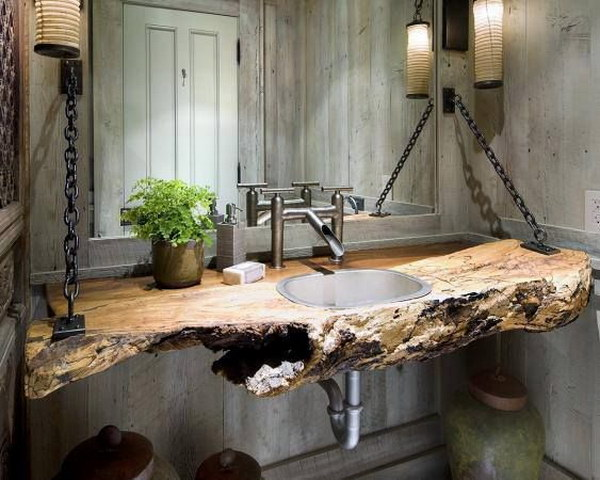 Rustic Industrial Bathroom.