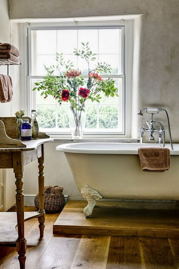 Rustic Farmhouse Bathroom Ideas - Hative on Rustic Farmhouse Bathroom  id=49460