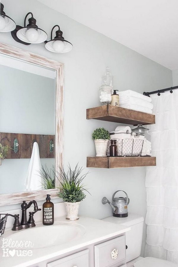 Rustic Farmhouse Bathroom 41 Rustic Bathroom Ideas