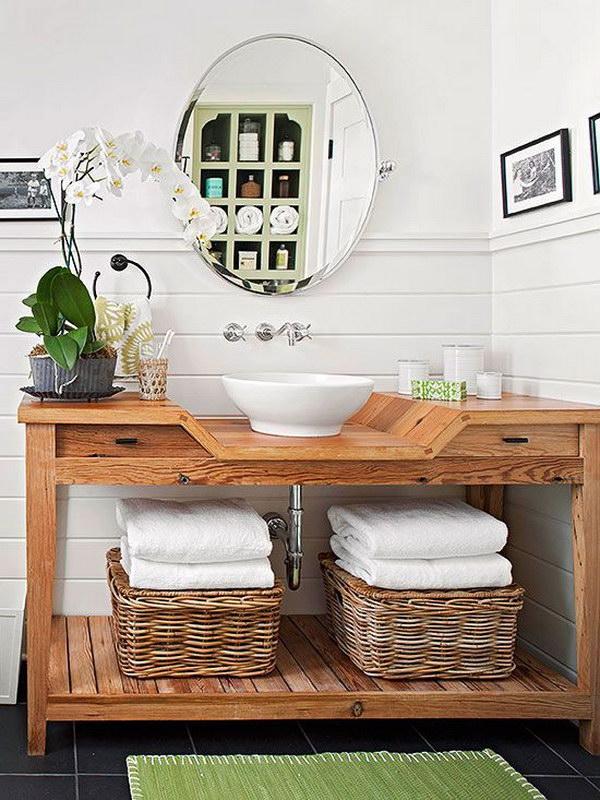 rustic modern bathroom. Modern Rustic Bathroom Design N