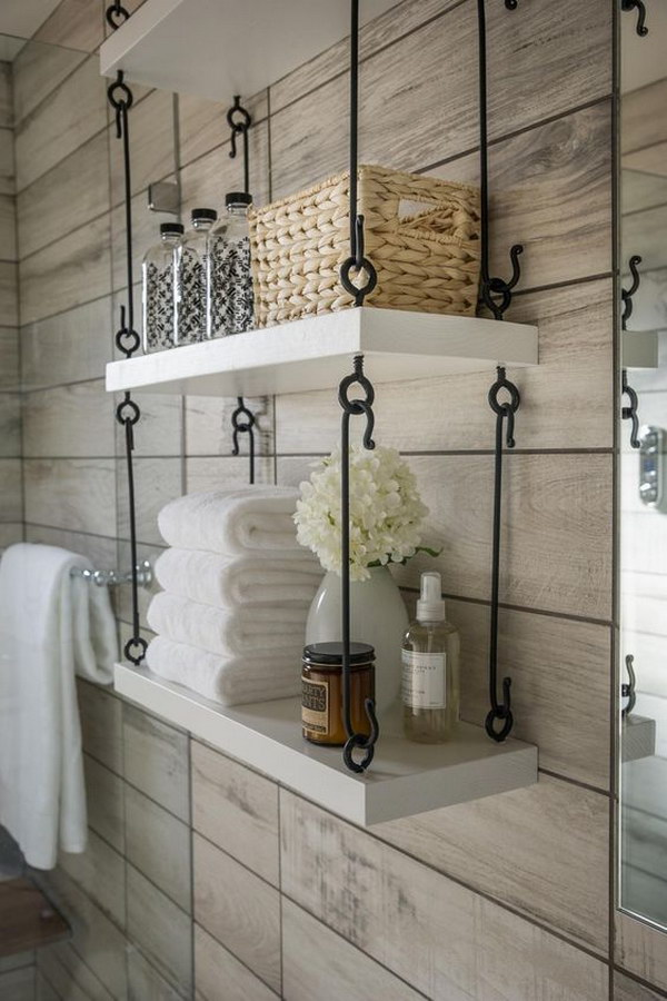 This Hanging Shelves Feel Perfect In Your Bathroom.