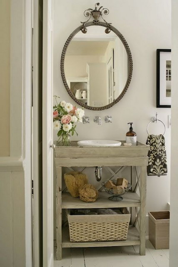 Vintage Rustic Bathroom.