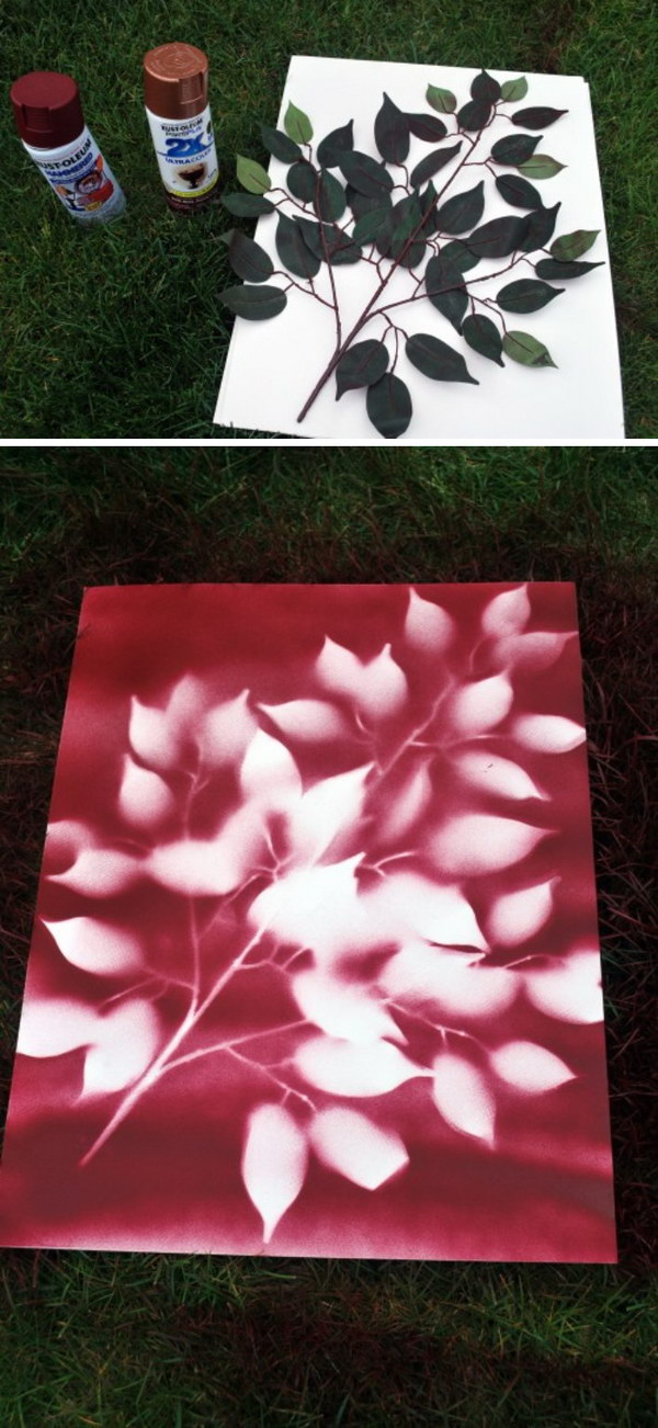 Good Ideas For Spray Painting Part - 7: DIY Spray Paint Flower Art
