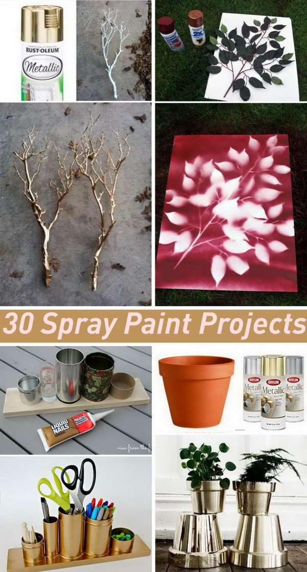 Amazing Cool Spray Paint Ideas Part - 9: Amazing Spray Paint Project Ideas To Beautify Your Home.