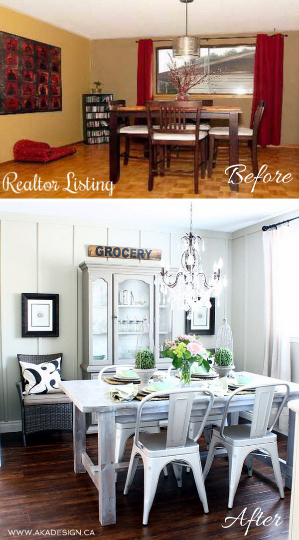 Cottage Farmhouse Dining Room Makeover Great Pictures
