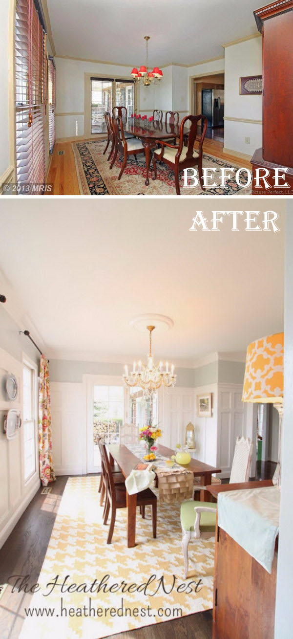 Dining Room Makeovers Ideas Part - 29: Fresh And Airy Dining Room: A Simple Update Turned Into A Major Remodel