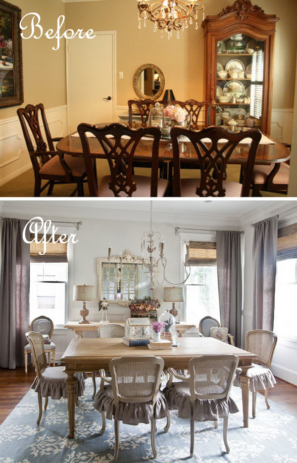 Budget Dining Room Makeover: How To Get The Soft Look