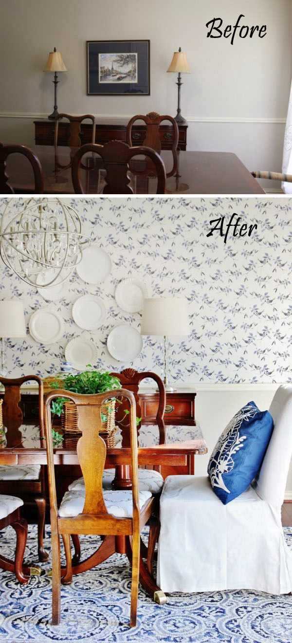 Before and After Dining Room.