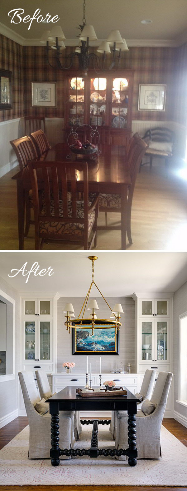 A Gorgeous, Modern Remodel Of A 1970u0027s Style Dining Room