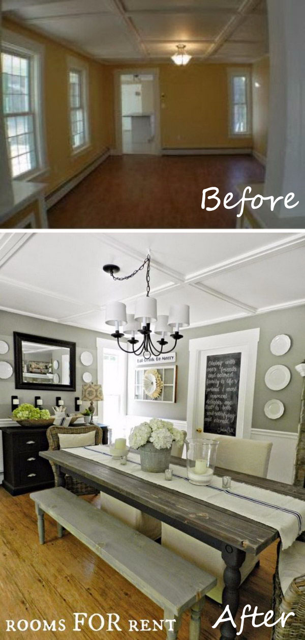 Delightful Dining Room Ideas On A Budget Part - 5: Dining Room Makeover.