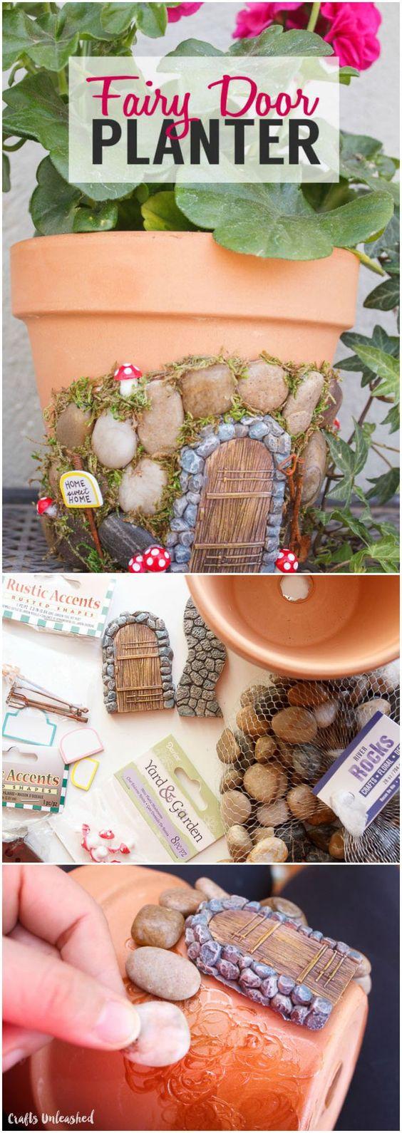 DIY Fairy House Flower Pots