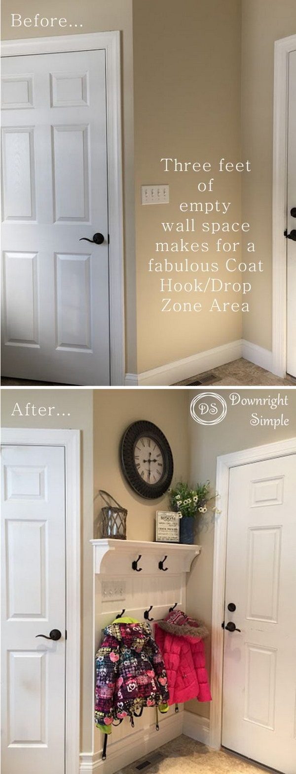 30 amazing entryway makeover ideas and tutorials hative - Small house entryway ideas ...