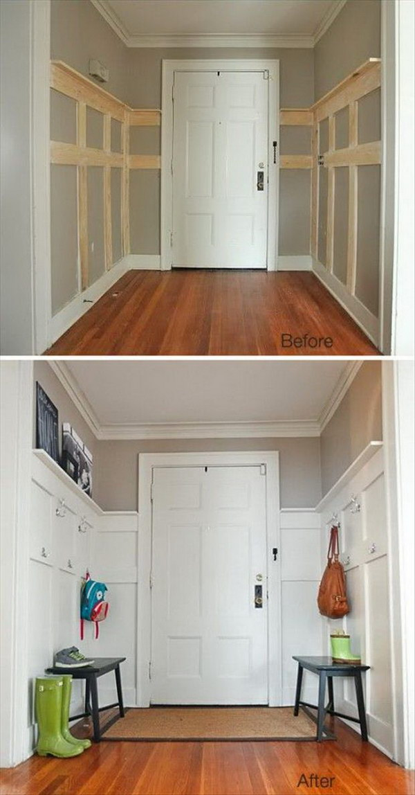 Foyer Makeover Ideas : Amazing entryway makeover ideas and tutorials hative