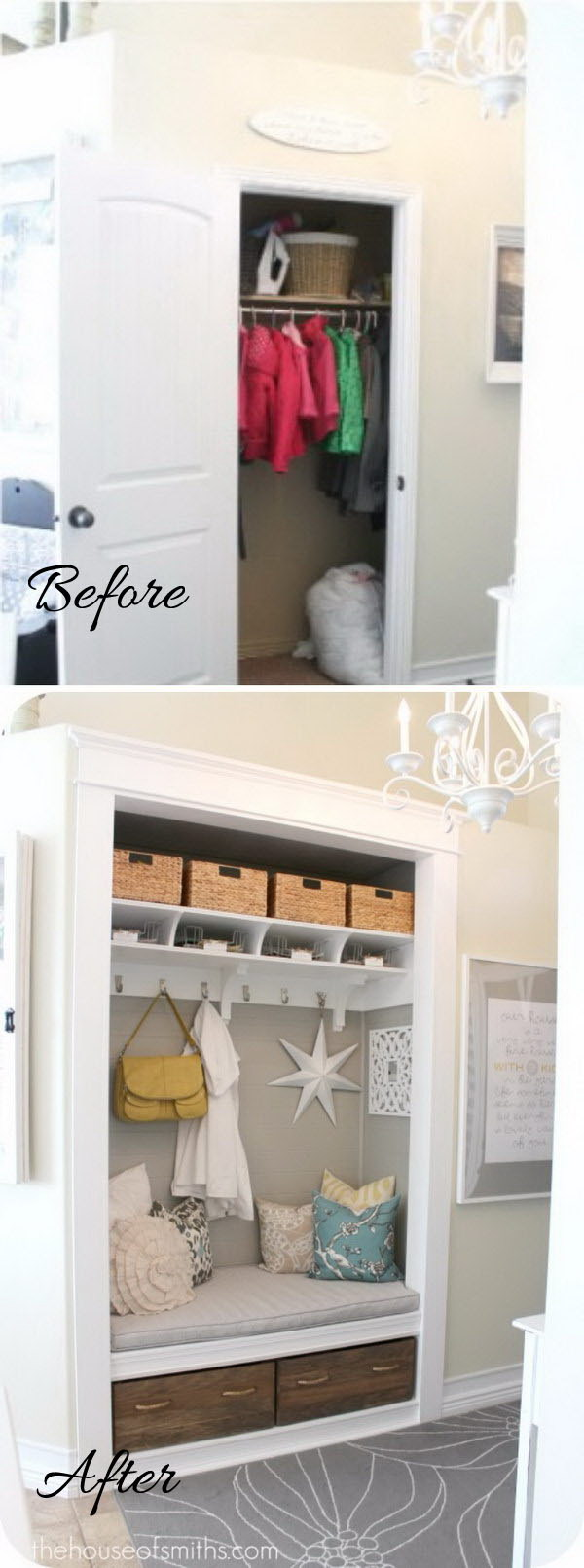 ideas in into a walk simple console lowes small doors entryway closet table room make living entry organization