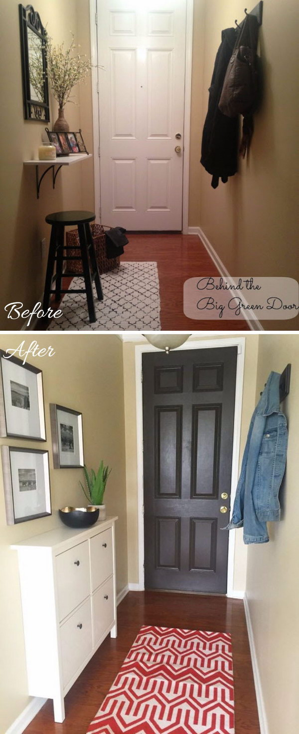 Ikea Foyer Cabinet : Amazing entryway makeover ideas and tutorials hative
