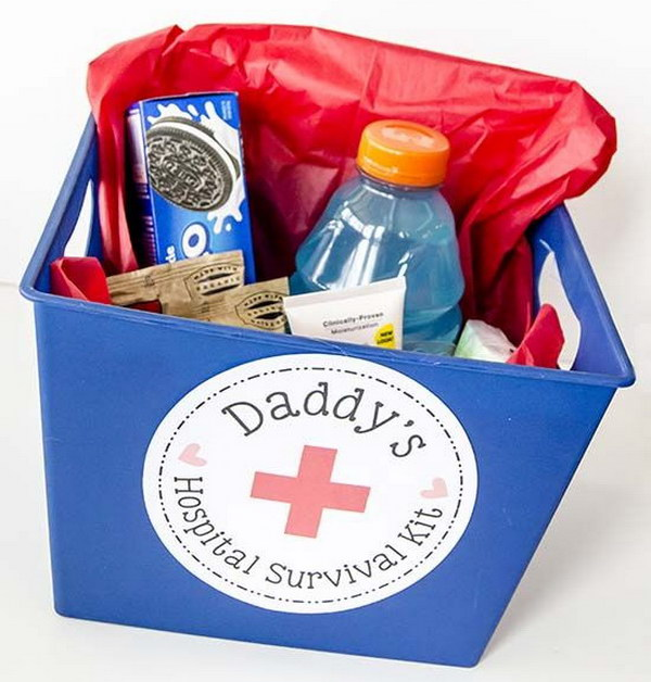 Daddy Hospital Survival Kit.
