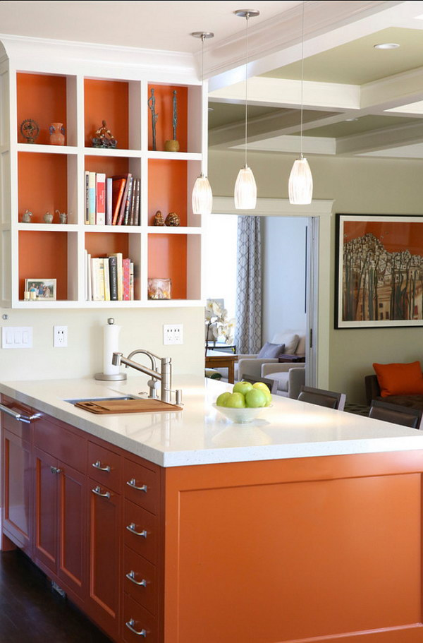 orange kitchen ideas kitchen cabinet paint colors and how they affect your mood 14459