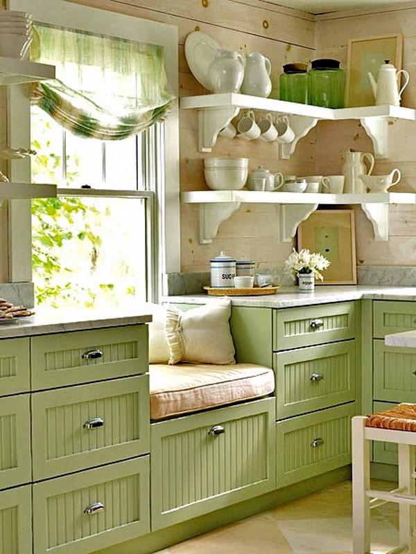 Green Kitchen Cabinet.