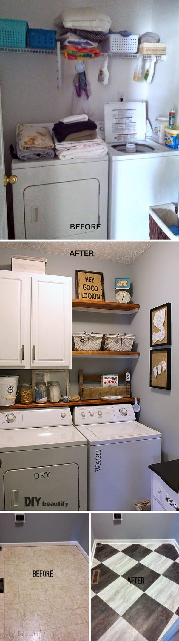 Awesome Before and After Laundry Room Makeovers - Hative