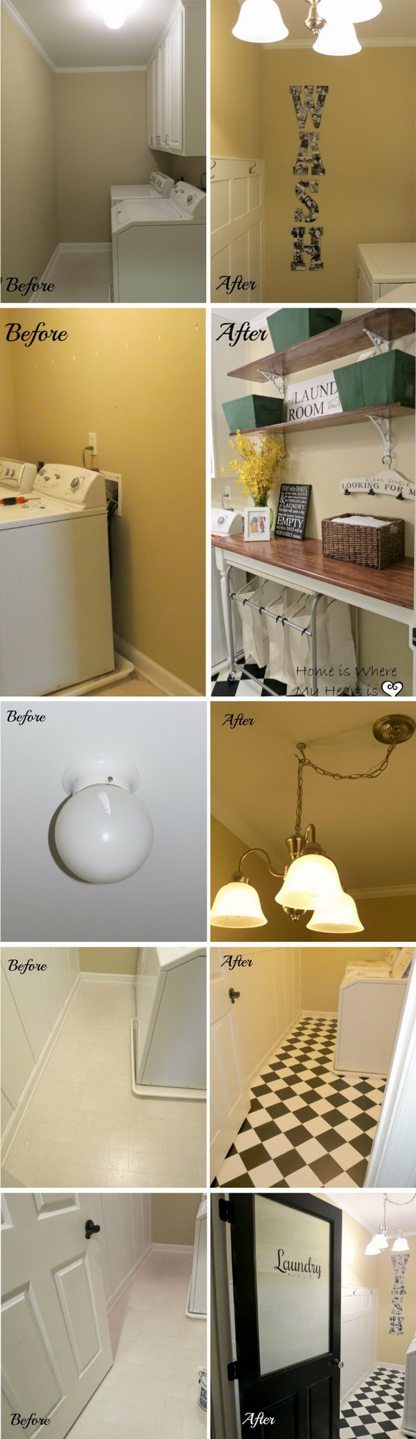 Charming Laundry Room Makeover.