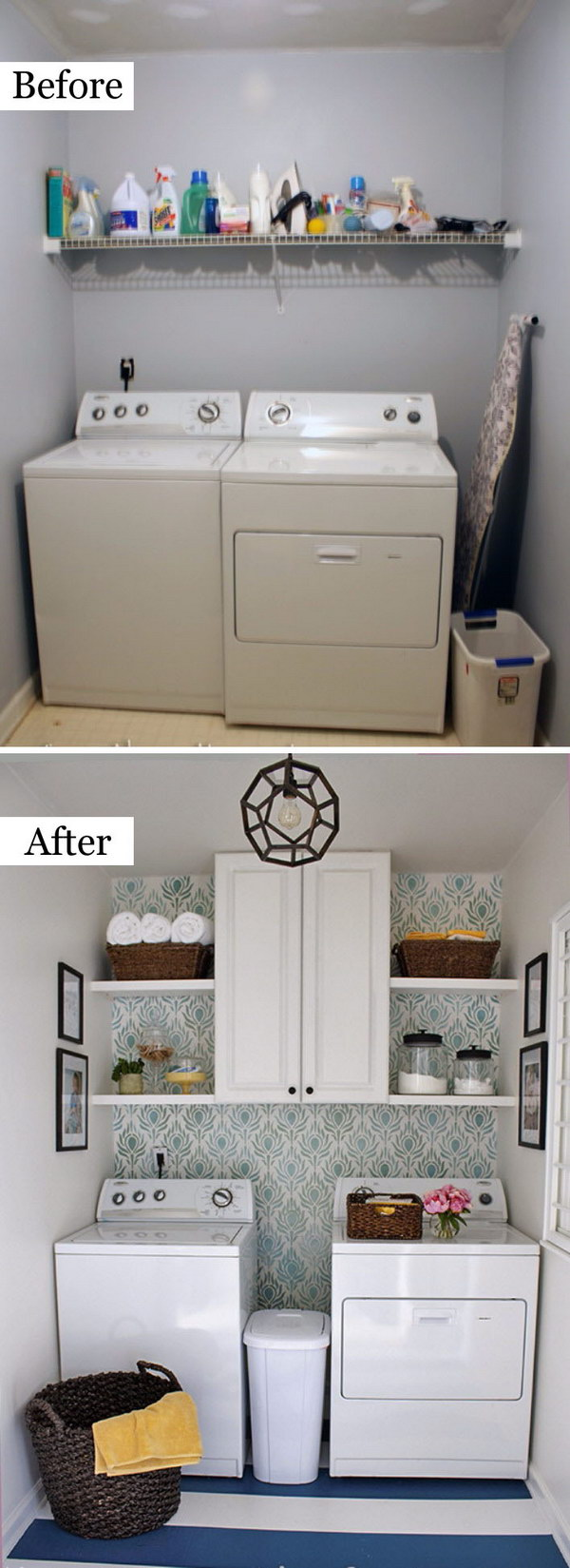 Awesome Before And After Laundry Room Makeovers Hative