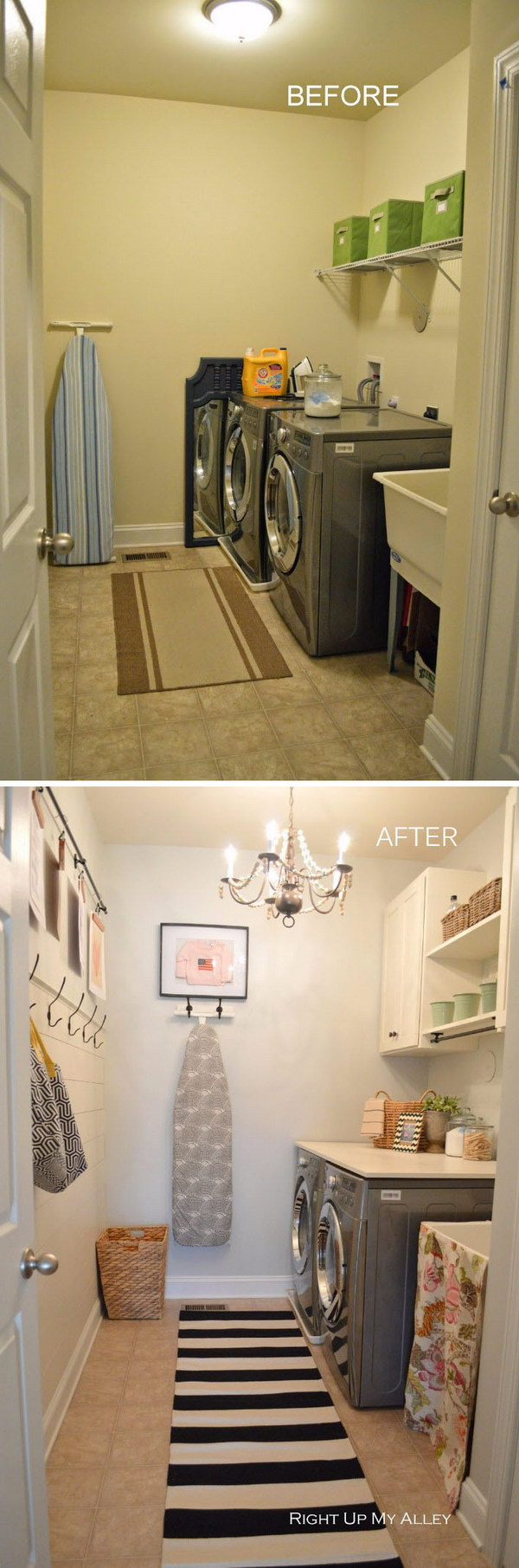 7 Small Space Makeovers: Awesome Before And After Laundry Room Makeovers