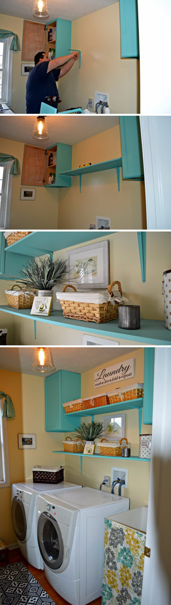 Add More Open Shelving and Cabinets for Storage.