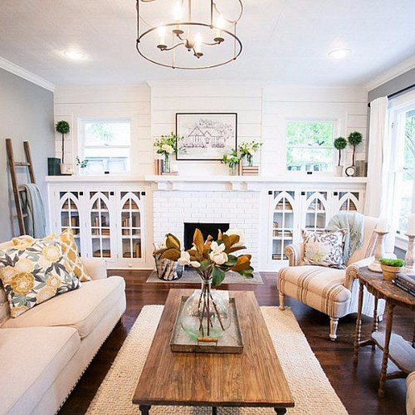 Living room layout guide and examples hative for Fixer upper living room designs