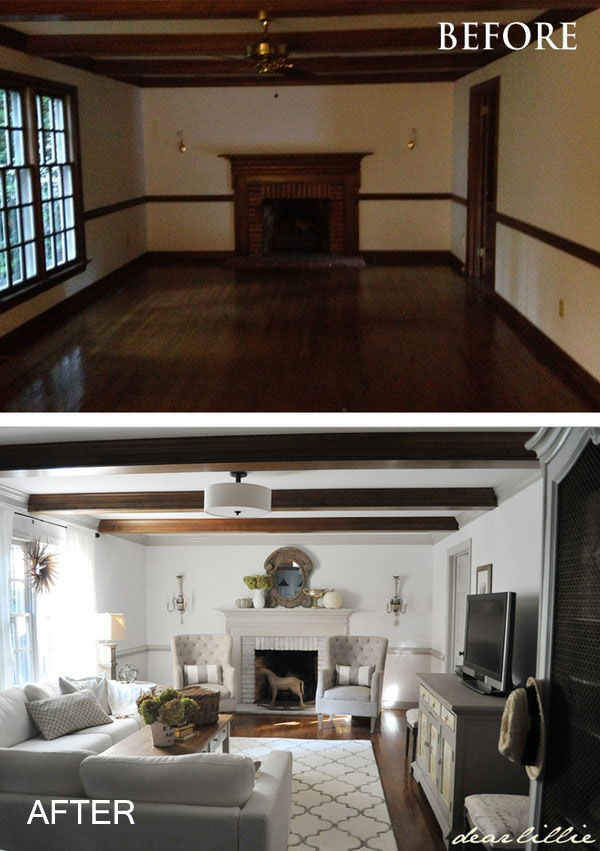 Living Room Renovation Before And After before and after: great living room renovation ideas - hative