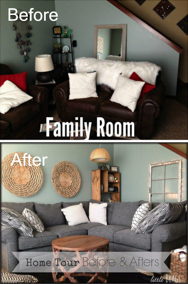 Bright and Fresh Living Room Remodel.