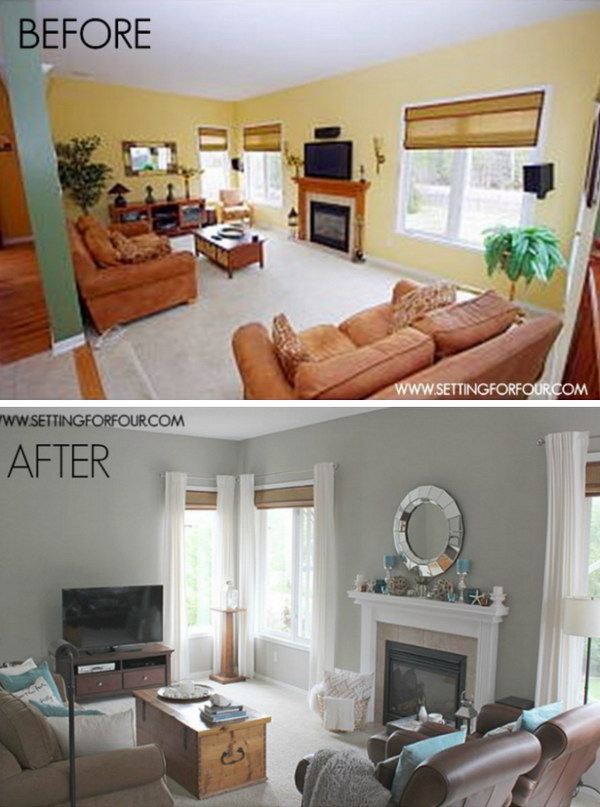 Living Room Makeover with Ikea Textiles.