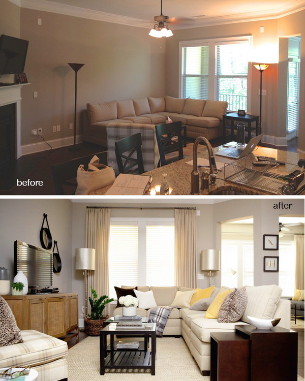 living room makeovers before and after. Before And After  Vinings Living Room and Great Renovation Ideas Hative