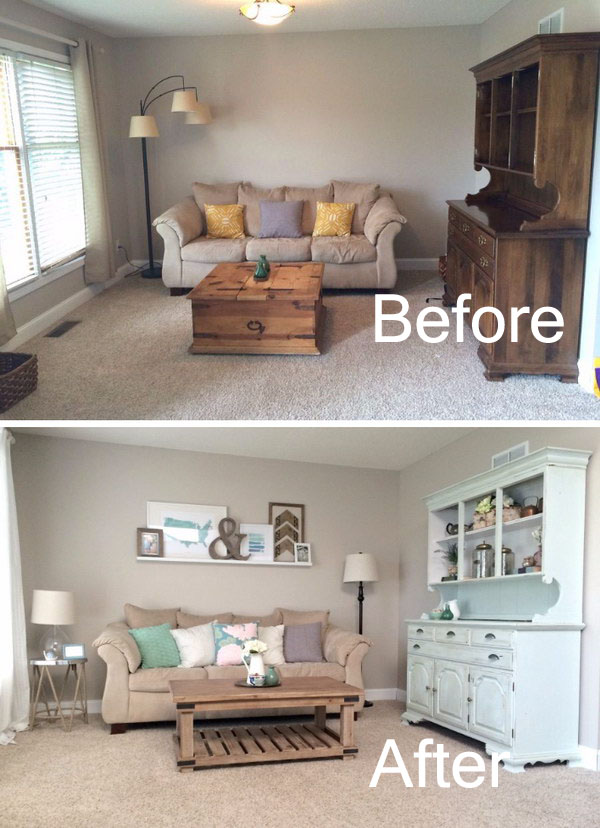 Before and after great living room renovation ideas hative for Family room renovations