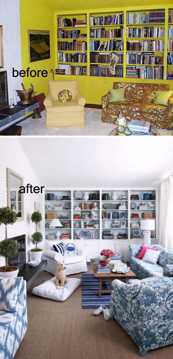 Dramatic Living Room Makeover.