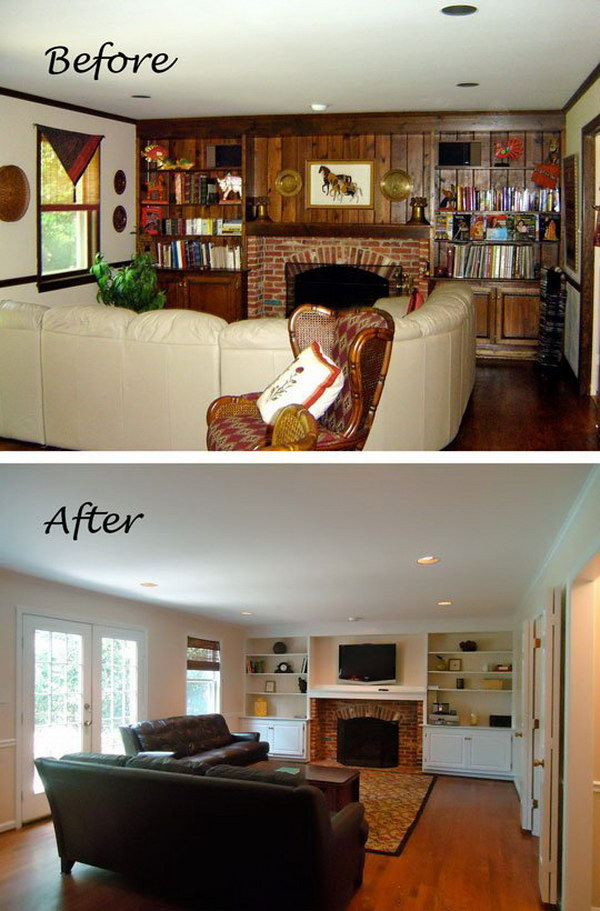 Chic and Serene Living Room Makeover.