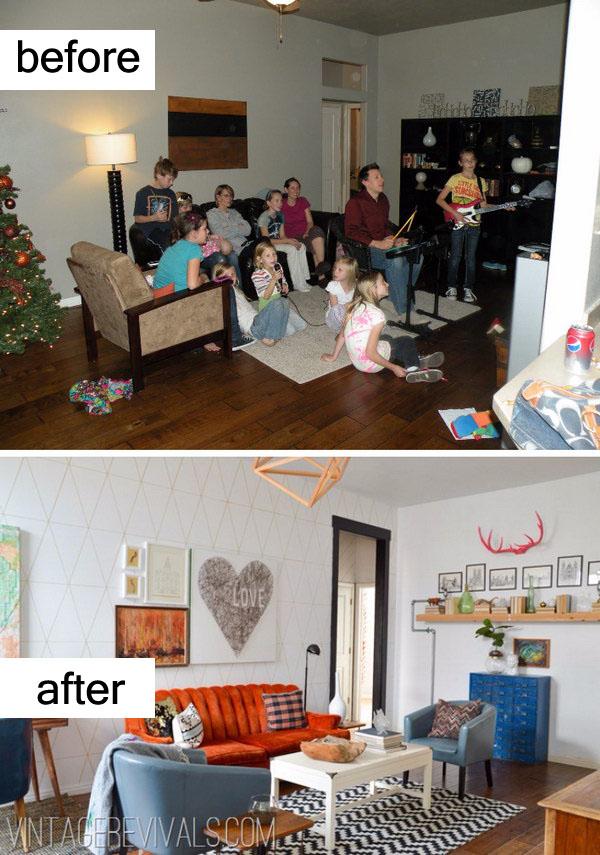 Modern Living Room Makeover.