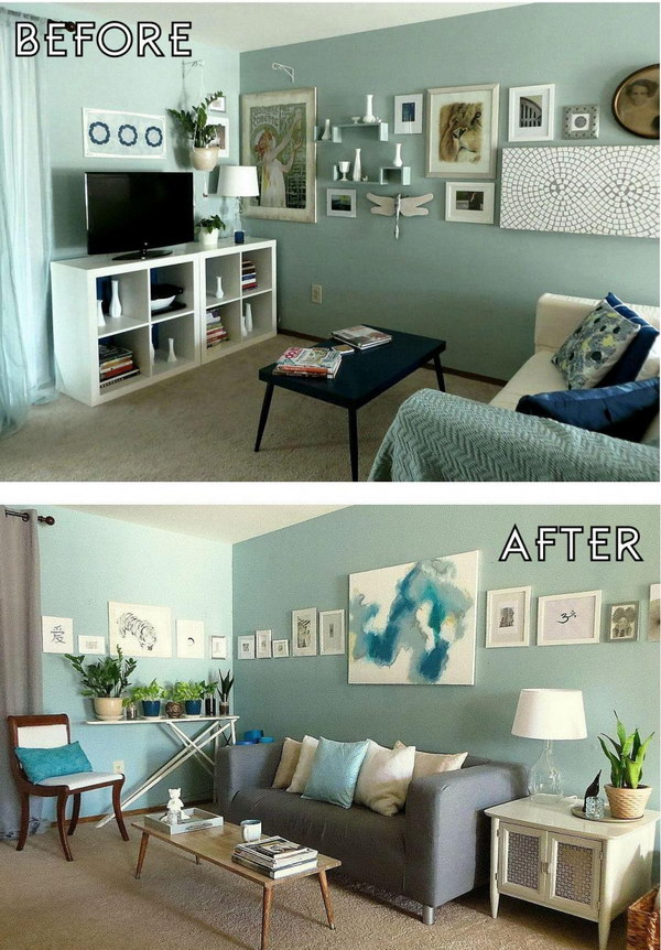 Before and after great living room renovation ideas hative for Living room makeover