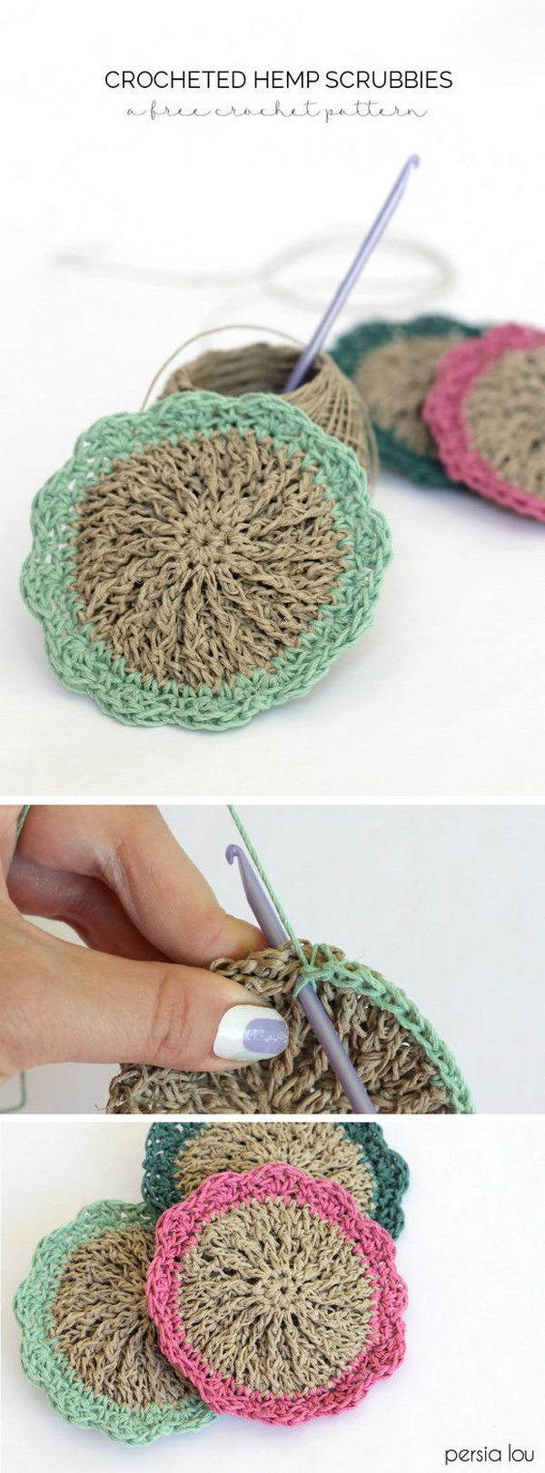 Knit Scrubbie Pattern : Crochet & Knitted Dishcloth Patterns - Hative