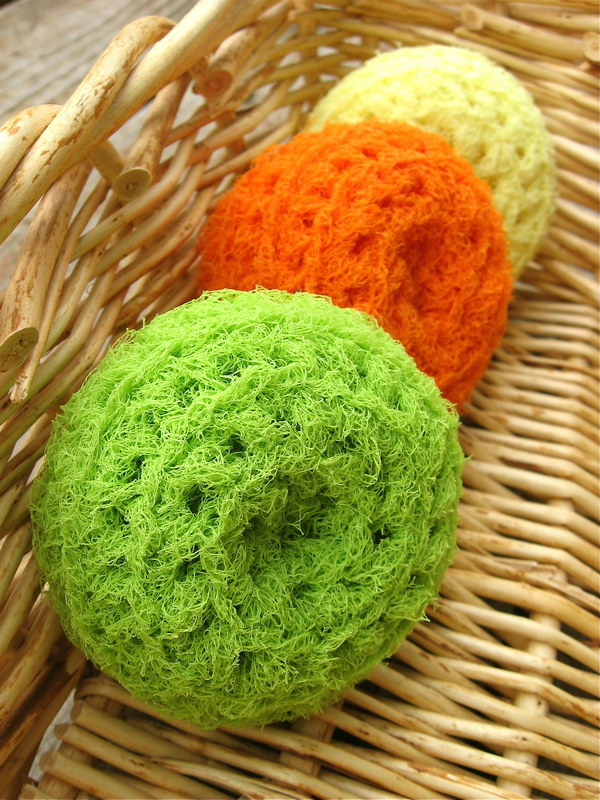 Crocheting Scrubbies With Netting : Crochet & Knitted Dishcloth Patterns - Hative