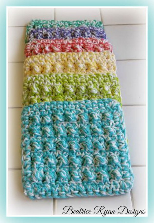 Knitted Scrubbies Free Pattern : Crochet & Knitted Dishcloth Patterns - Hative