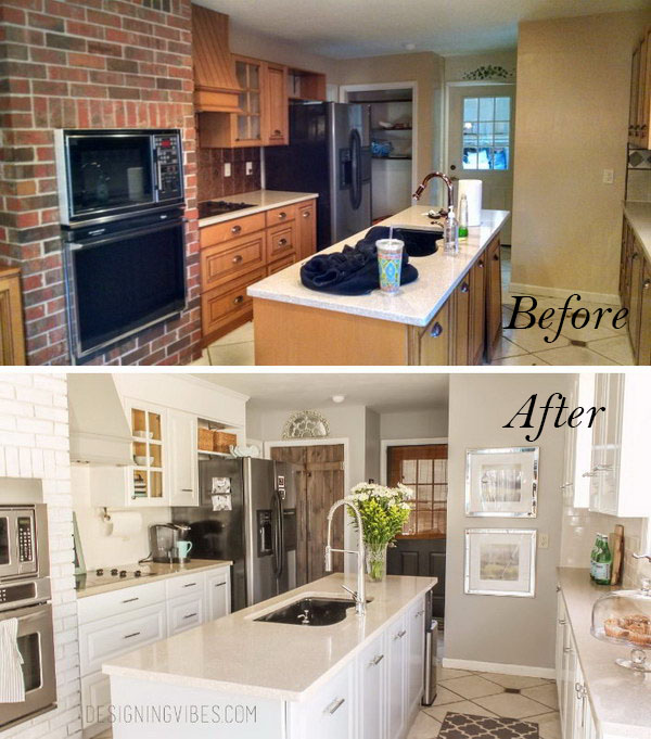 Kitchen Cabinet Makeover Ideas Paint: Genius Kitchen Makeover Ideas That Would Save You Money