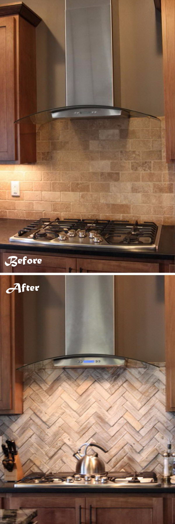 Change the Look and Feel of Your Kitchen by Changing the Backsplash.