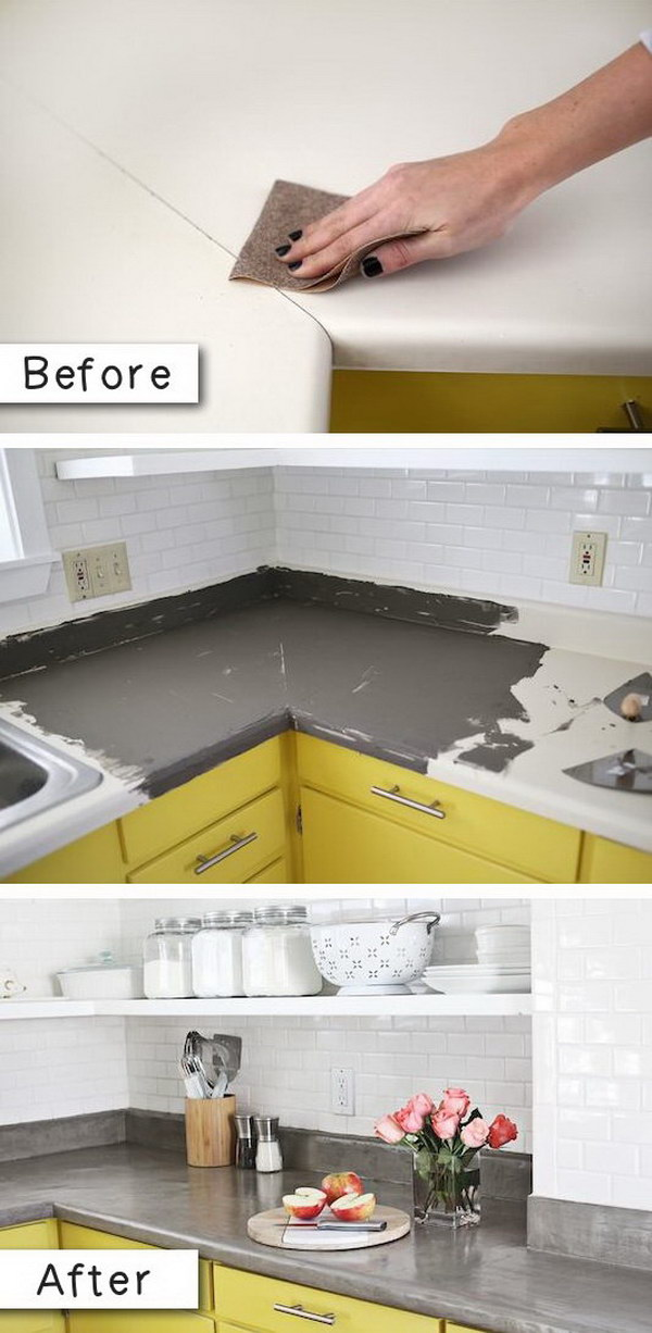 Countertop Paint That Looks Like Concrete.
